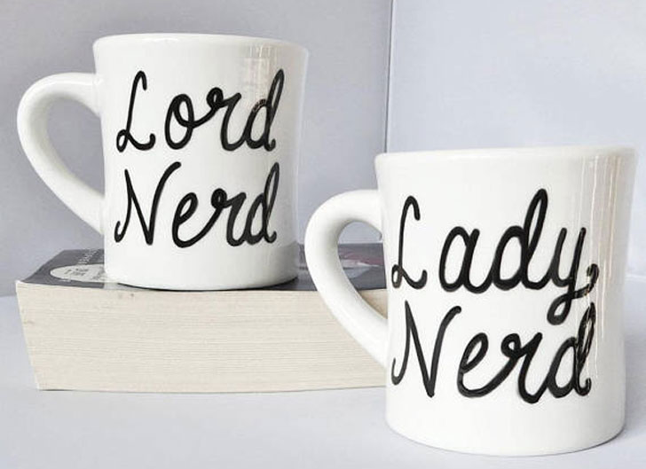 Lord and Lady Nerd Couples Mug Set