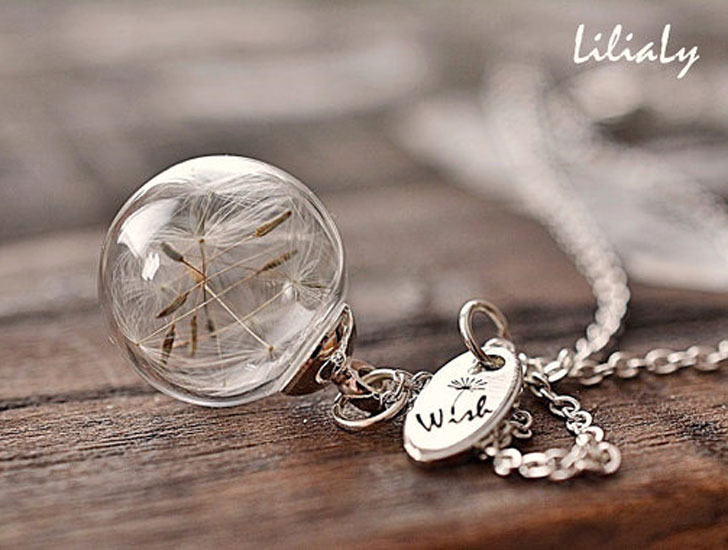 Lucky Make A Wish Dandelion Necklace