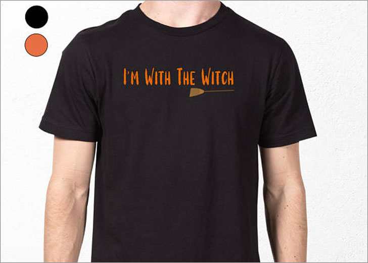 Mens Funny I'm With the Witch Halloween T-Shirt