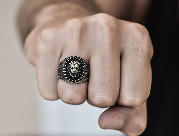 Mens Lion Ring - Unique Mens Rings