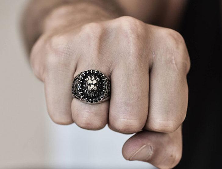 Mens Lion Ring - Unique Mens Rings