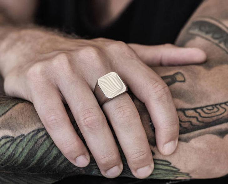 Mens Silver Signet Ring