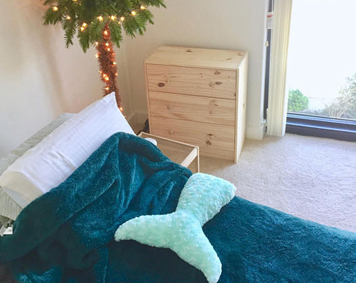 Mermaid Tail Bedroom Pillows
