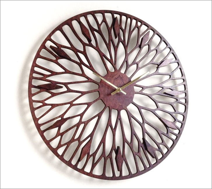 Mid Century Boho Wandering Wall Clock - unique wall clocks