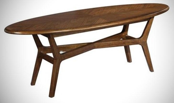 Mid Century Modern Surfboard Coffee Table