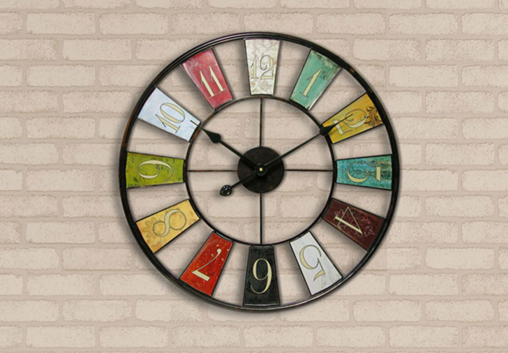 "Military Oversized 24"" kaleidoscope Wall Clock"