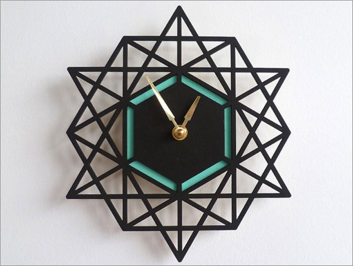 Modern Geometric Wall Clock