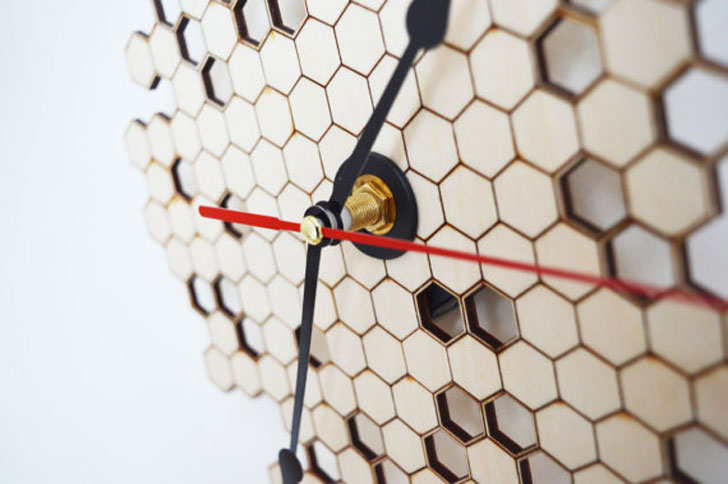 Modern Honeycomb Wall Clock