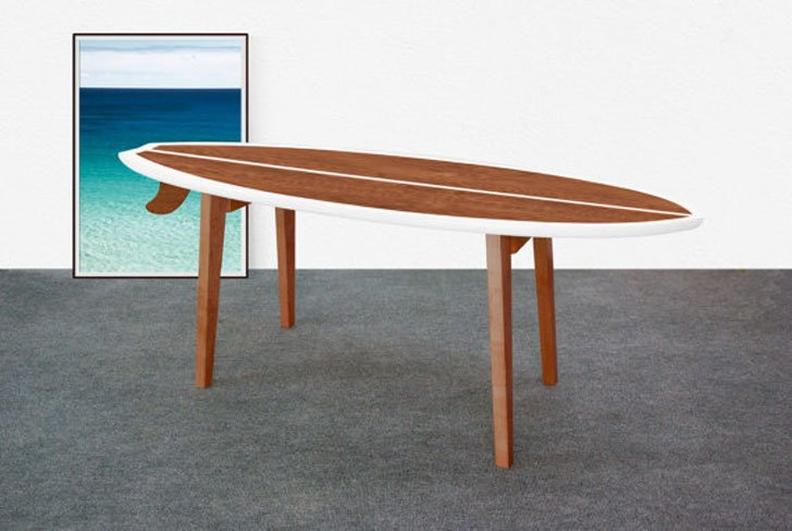 Monoculo Surfboard Coffee Table - Surfboard Coffee Tables
