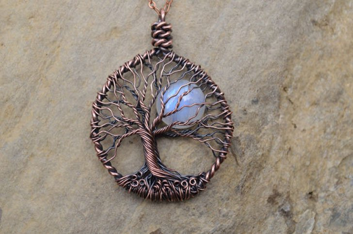 Moonstone Tree Of Life Necklace