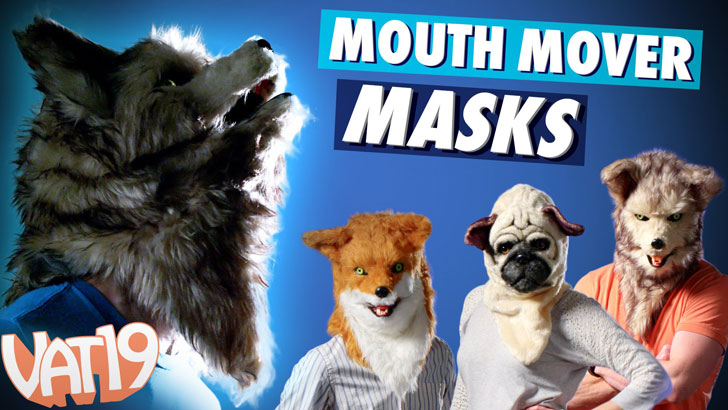 Mouth Moving Animal Masks