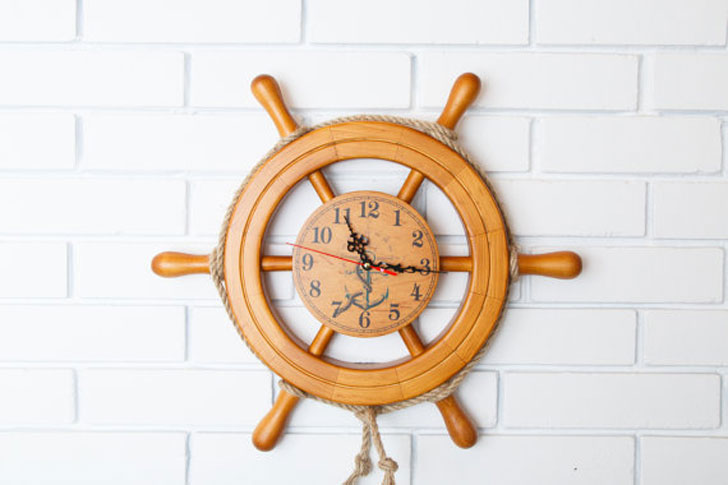 Nautical Ships Wheel Wall Clock - unique wall clocks