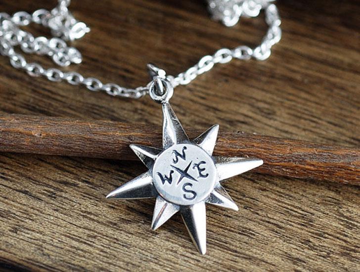 North Start Compass Good Luck Necklace