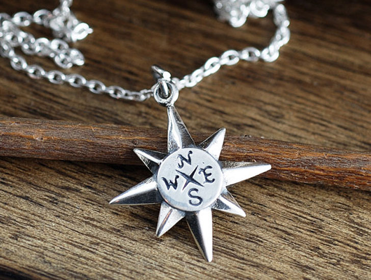 North Start Compass Good Luck Necklace