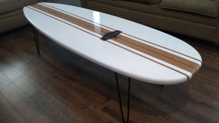 Old School, Surfboard Coffee Table