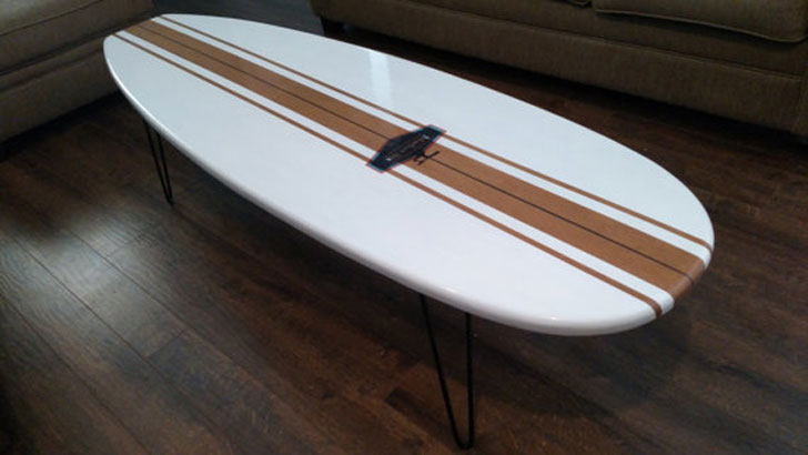 Old School, Surfboard Coffee Table - Surfboard Coffee Tables