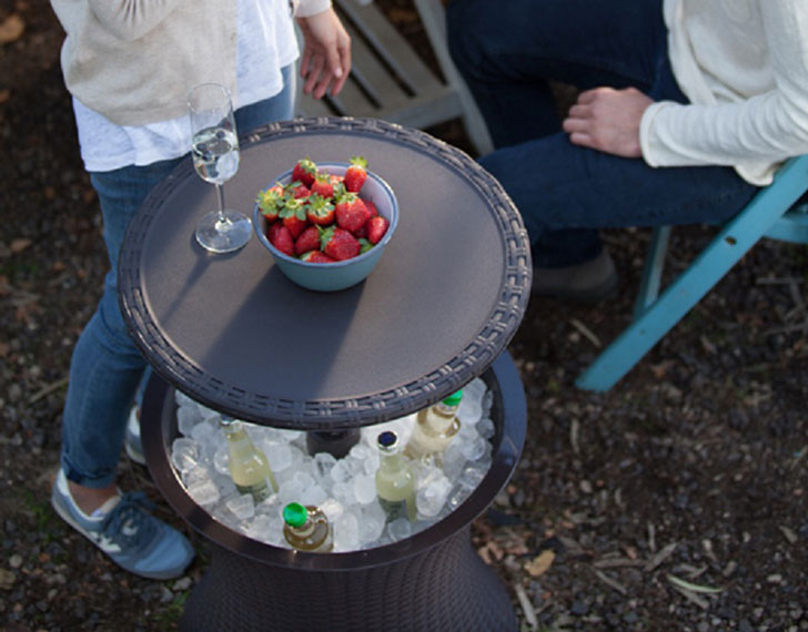 Outdoor Pull-Up Cooler Tables