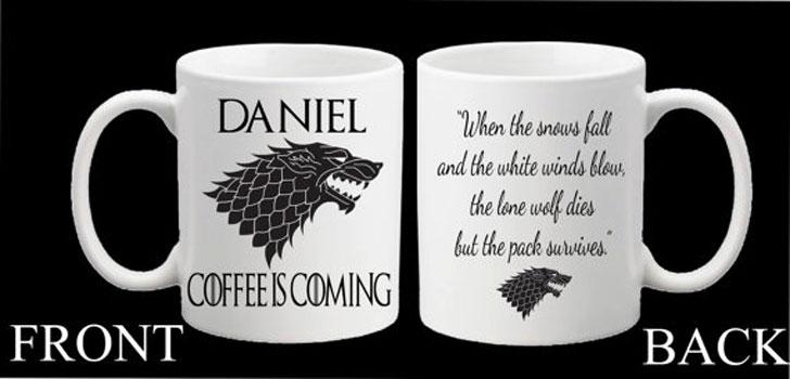 Personalised Game of Thrones Mugs
