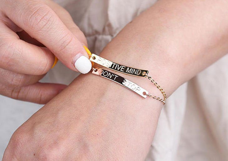 Personalised Gold Bar Best Friend Bracelets