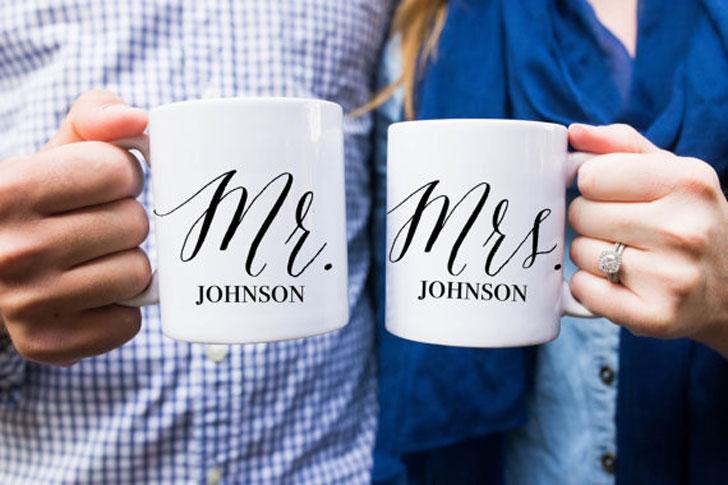 Personalised Mr & Mrs Couples Mug Sets