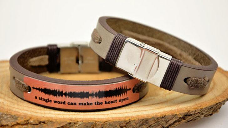 Personalised Sound Wave Bracelets