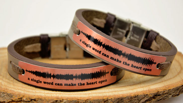 Personalised Sound Wave Bracelets