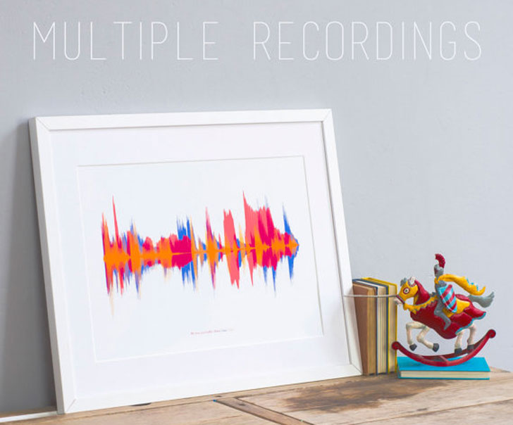 Personalised Voice Sound Wave Print