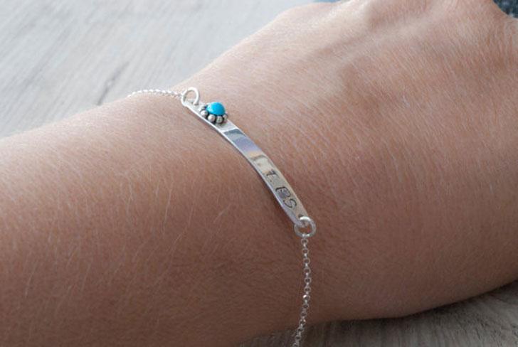 Personalized Initials Bar Bracelet