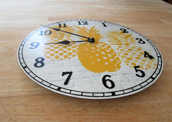 Pineapple Wall Clock