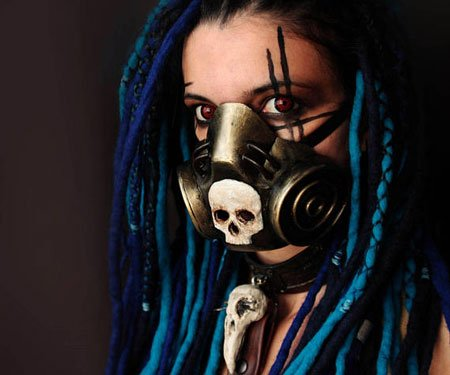 Post Apocalyptic Steampunk Gas Masks