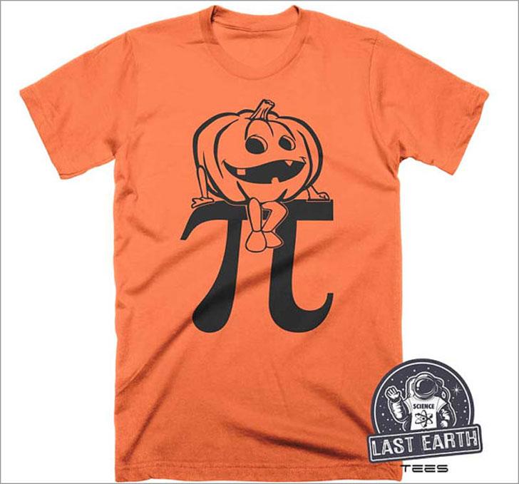 Pumpkin Pi Halloween T-shirt