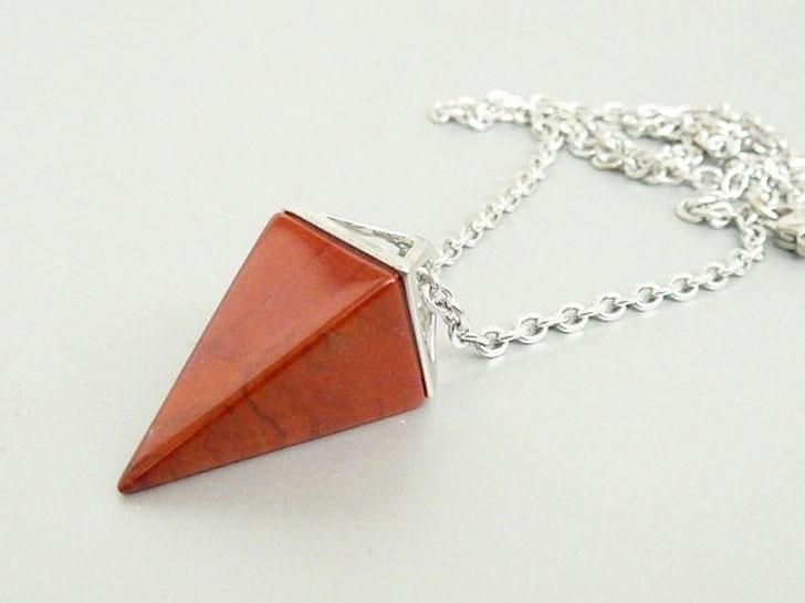 Red Jasper Pyramid Pendants