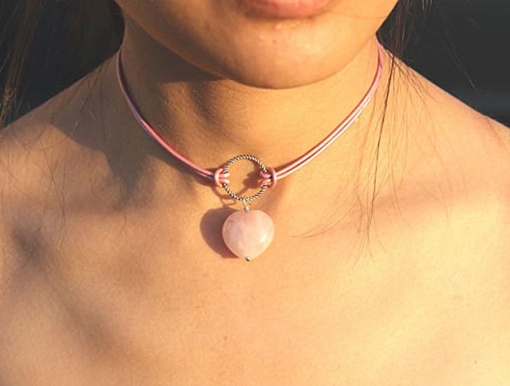 Rose Quartz Lucky Charm Choker