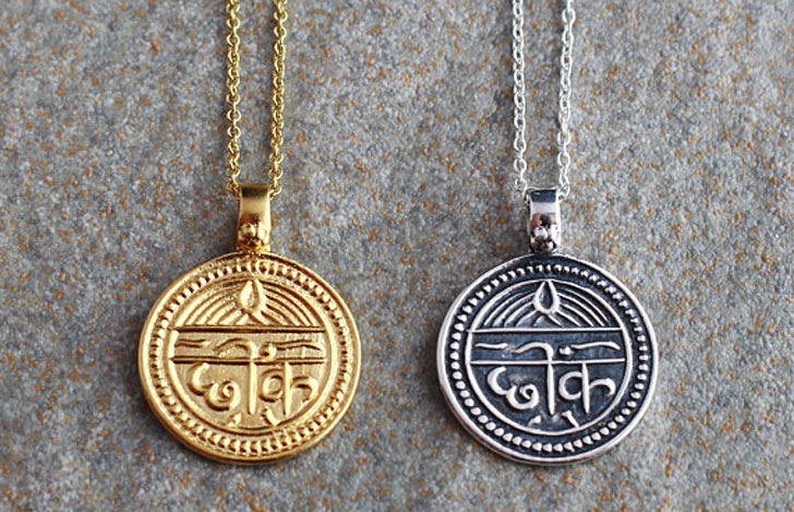 Sanskrit Good Health & Good Luck Necklaces