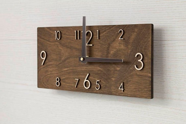 Scandinavian wooden Wall Clock