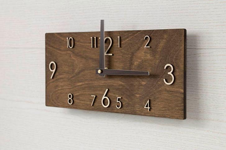 Scandinavian wooden Wall Clock