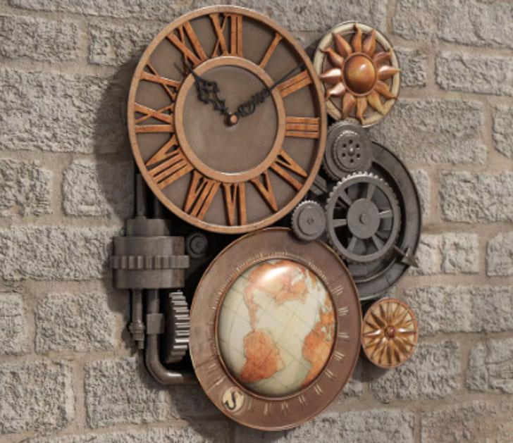 Oakland Gears Sculptural Wall Clock