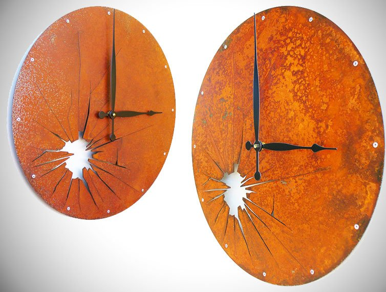 Shattered Metal Wall Clock - unique wall clocks