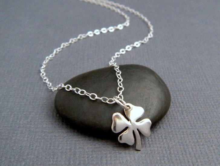Silver Four Leaf Clover Good Luck Necklace - good luck necklaces