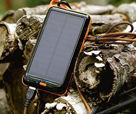 Solar Power Bank With Flashlight
