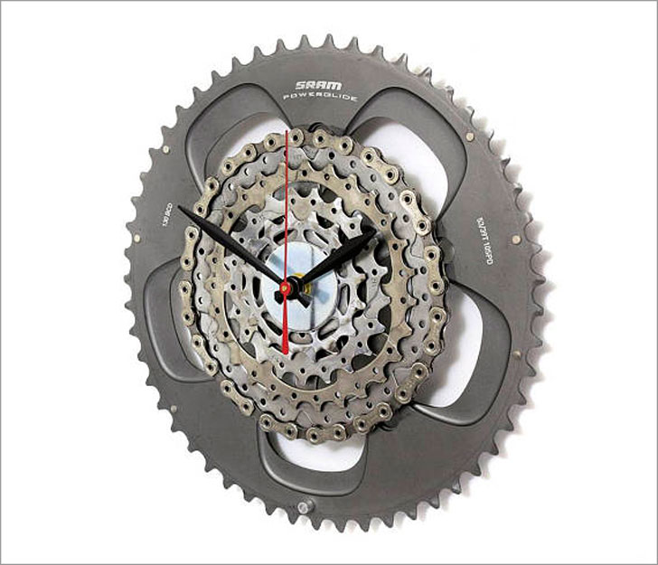 Steampunk Bike Gear Wall Clock