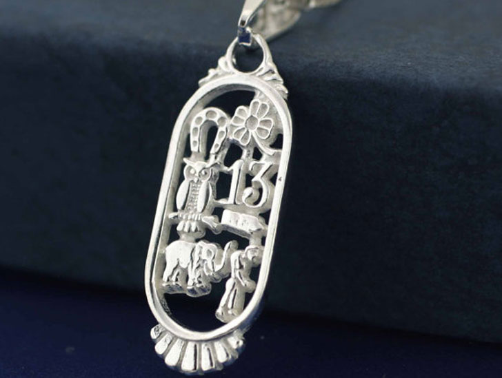 Sterling Silver Talisman Pendant - good luck necklaces