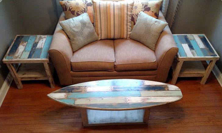 Surfboard Coffee Tables