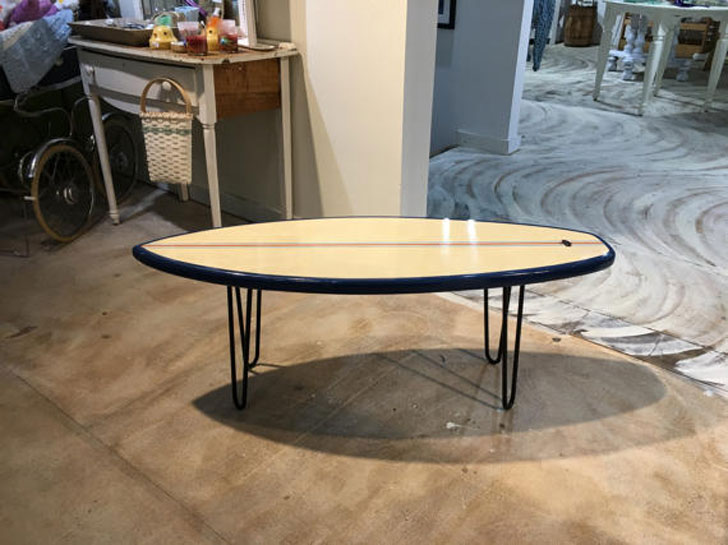 Table End Surfboard Coffee Table