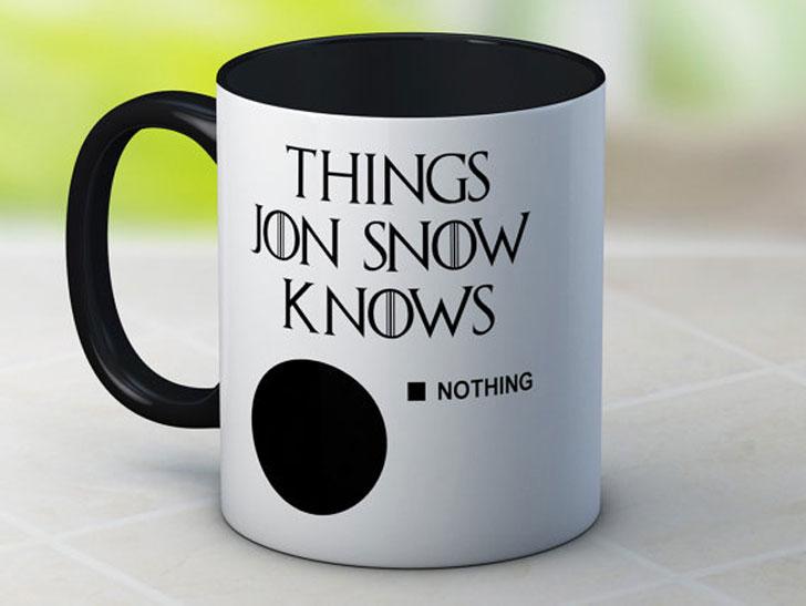 Things Jon Snow Knows ( Nothing ) Mug