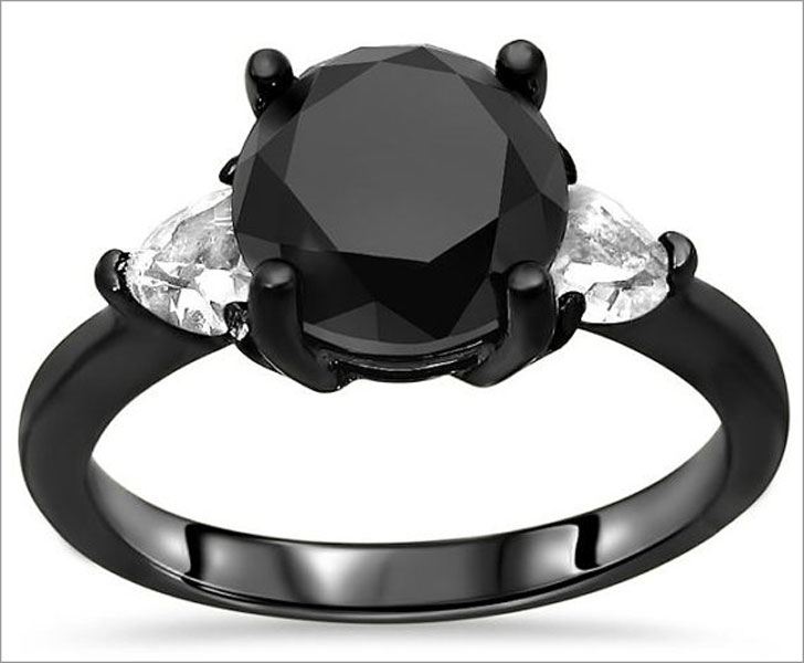 43 Unique Black Diamond Engagement Rings You Can Buy