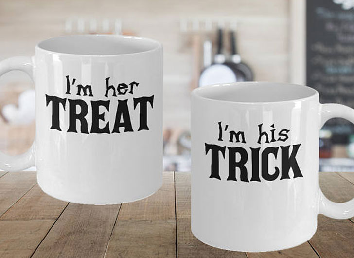 Trick and Treat Couples Halloween Mugs