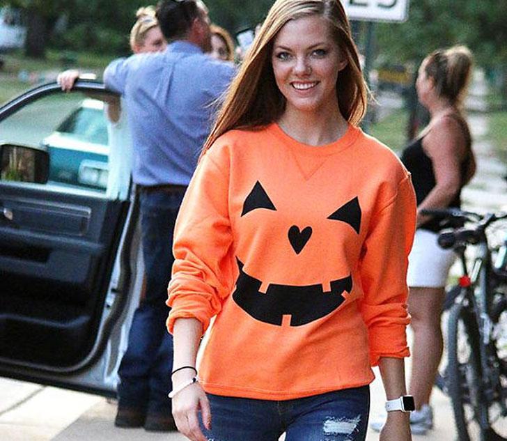 Womens Long Sleeve Halloween Shirt