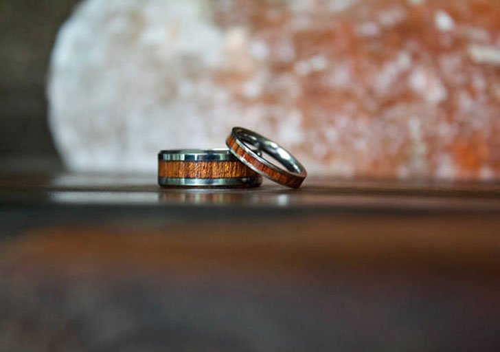 Wood & Tungsten Carbide Couples Rings