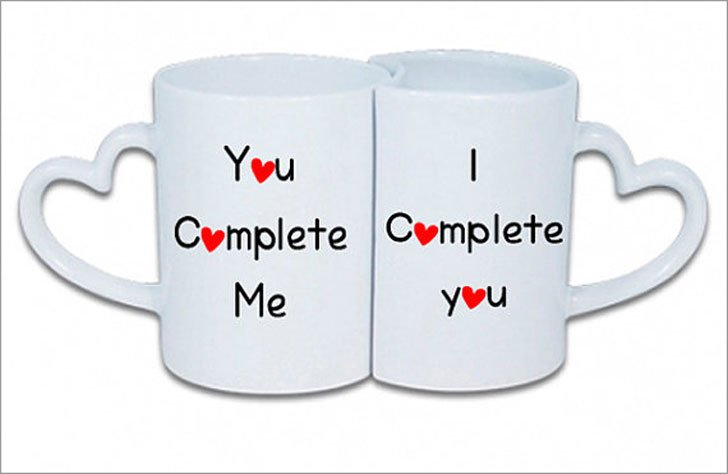 You Complete Me Valentines Mugs
